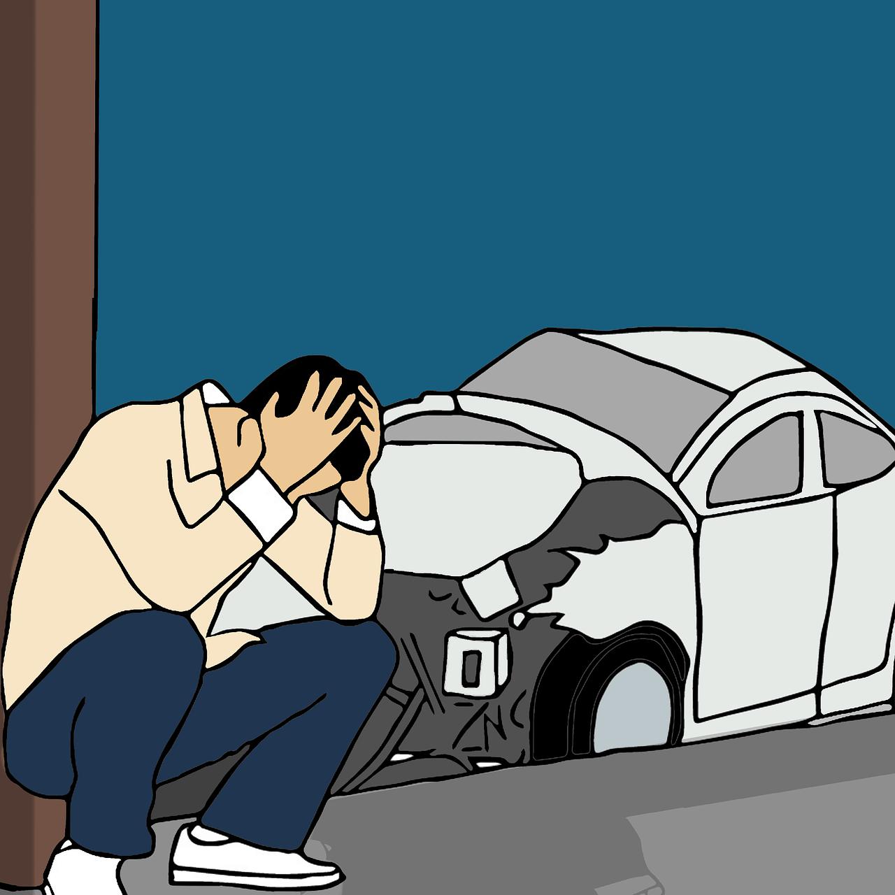איש אחרי תאונה