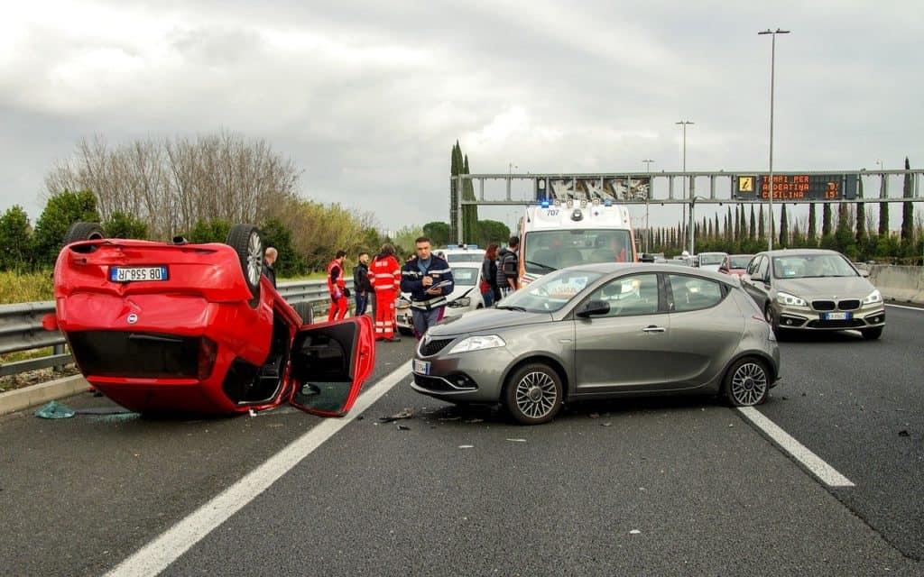 תאונה בכביש ראשי
